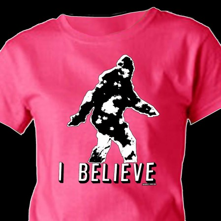 Bigfoot Sasquatch Paranormal Ufo Crytozoology I Believe T Shirt
