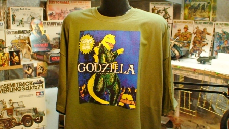 Aurora Godzilla Monster Model Kit Horror Movie Tee Shirt