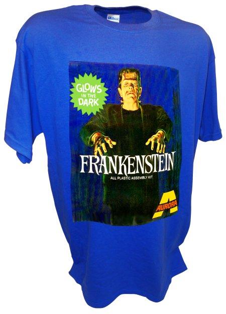 Frankenstein Monster Dracula Aurora Model Kits blue