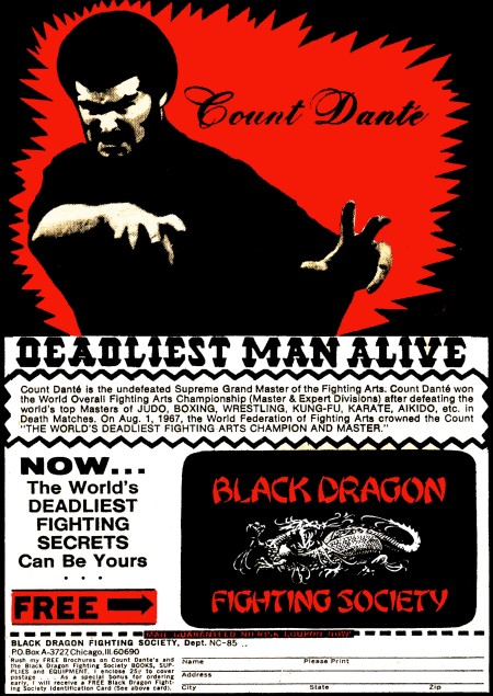 DEADLIEST MAN ALIVE COUNT DANTE T SHIRT