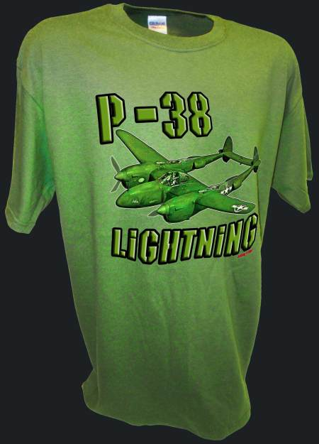 P-38 Lightning Airforce Army Fighter Bomber Ww2 Warbird