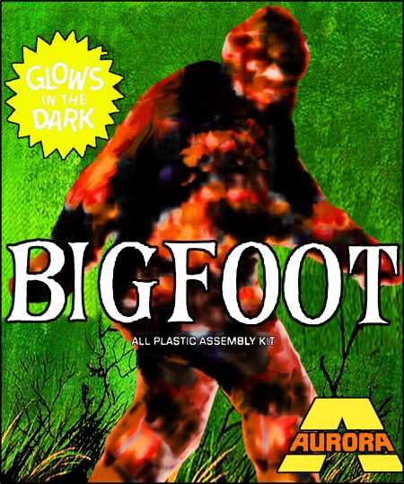 Aurora Bigfoot Sasquatch Monster Model Kit Horror Movie