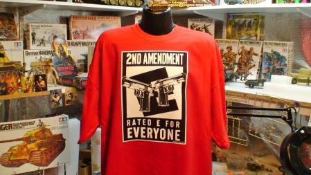 2nd Amendment rated E Colt 1911 45 auto M16 Ak47 Firearms Pro Gun tee pic