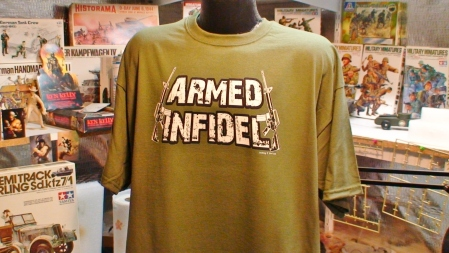 Armed Infidel m16 Ar15 Ak47 Funny Gun Firearms Tee shirt