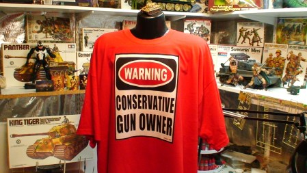Conservative Gun Owner Warning Sign Funny Tea Party Pro Gun 2nd Amend photo