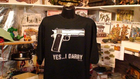 Yes I Carry Pro Gun Firearms 1911 Colt 45 auto Nra Tea party Tee Shirt