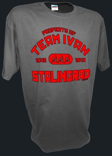 Team Ivan CCCP Soviet Union Russian T shirt gray
