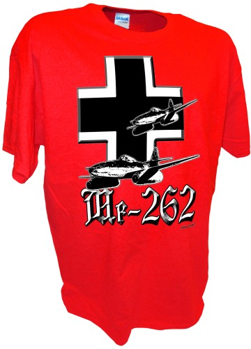 Messerschmitt Me-262 Jet  Luftwaffe ww2 fighter airplane Iron Cross red
