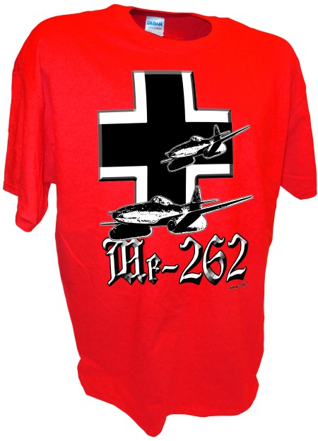 Me-262 Jet  Luftwaffe ww2 fighter airplane Iron Cross red