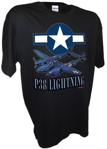 P38 Star Lightning Airforce Army Fighter Bomber Ww2 Warbird bk