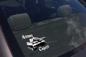 ACHTUNG TIGER 1 CAR DECAL