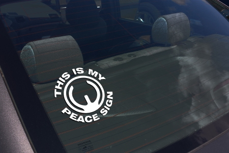 PEACE SIGN 2 AR15 DECAL