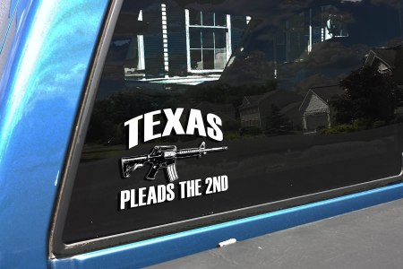 TEXAS PLEADS TRUCK  DECAL