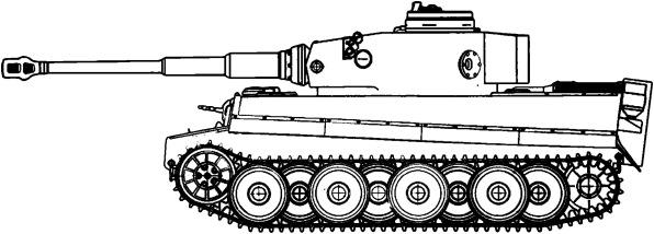 Картинки нарисованного танка тигр