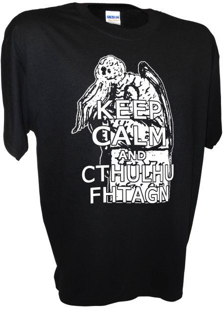 Cthulhu Keep Calm Lovecraft Necronomicon Horror Monster God Dagon Call of Tee