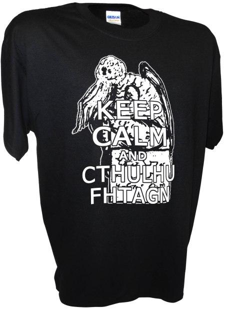 Cthulhu Keep Calm Lovecraft Necronomicon Horror Monster God Dagon Call of Tee