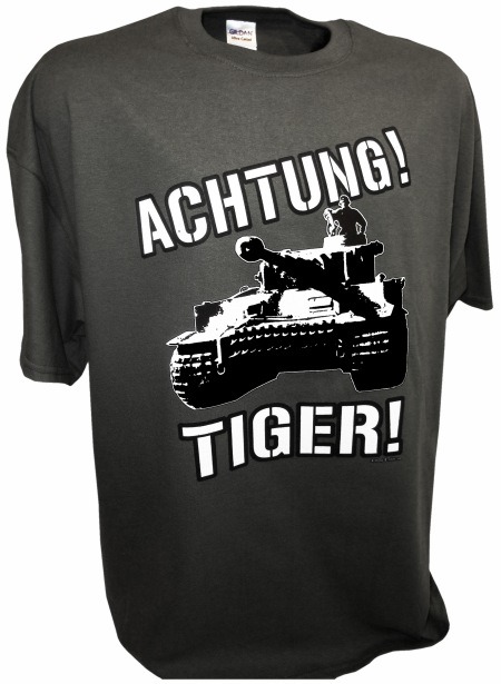 Achtung Tiger 2 Panzer Tank gray