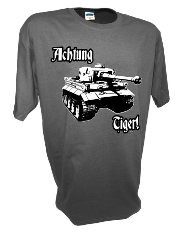 Achtung Tiger Panzer Tank gray