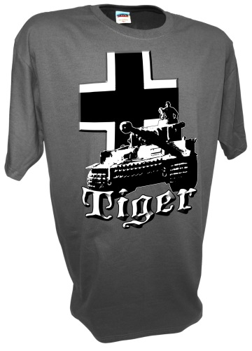 Tiger Panzer Tank Iron Cross German Army grau